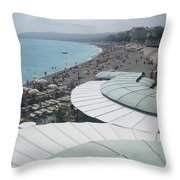 Nice By The Sea. Throw Pillow
