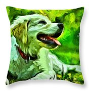 Nice Dog Throw Pillow