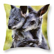 Nice Friends Throw Pillow