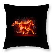 Nice Horse 3d Throw Pillow