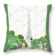 Nice Paris Throw Pillow