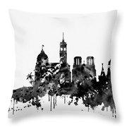 Nice Skyline-black Throw Pillow
