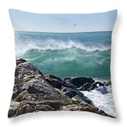 Nice Wave Throw Pillow