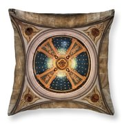Niche Inlay At Our Lady Of Victory Throw Pillow