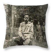 Nicholas II (1868-1918) Throw Pillow