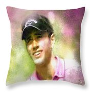 Nick Dougherty In The Golf Trophee Hassan II In Morocco Throw Pillow