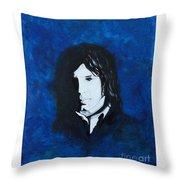 Nick Drake Throw Pillow