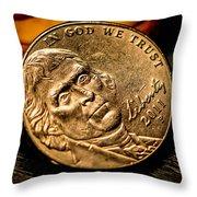 Nickel  Throw Pillow