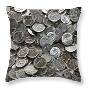 Nickeled And Dimed Throw Pillow