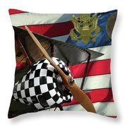 Nieuport 28c Bucking Mule Throw Pillow