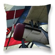 Nieuport 28c Hat In The Ring Throw Pillow