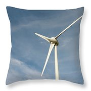 Nieuwpoort Belgium Wind Turbines. Throw Pillow