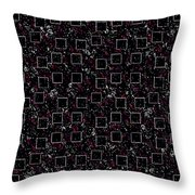 Night Abstraction Throw Pillow