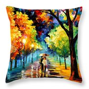 Night Alley Throw Pillow