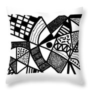 Black And White 20/night And Day 1 Throw Pillow