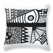 Night And Day 3 Throw Pillow