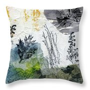 Night And Day In The Forest Throw Pillow