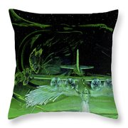 Night Angels Throw Pillow