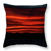 Night Approaches Throw Pillow