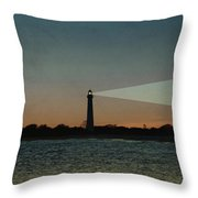 Night At Cape May Lighthouse Throw Pillow