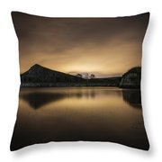 Night At Cawfields Throw Pillow