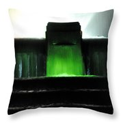 Night At Mulholland Fountain Throw Pillow