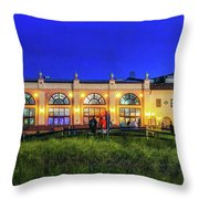 Night At The Ocean City Music Pier Throw Pillow