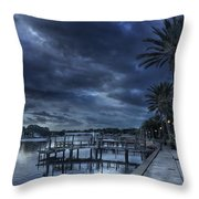 Night At The Bayou Throw Pillow