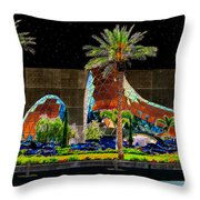 Night At The Dali Museum Throw Pillow