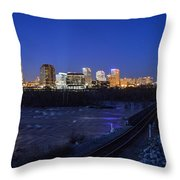 Night At The Floodwall 2 Throw Pillow