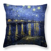 Night At The Lake Throw Pillow