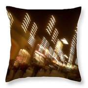 Night At The Mall Throw Pillow