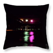Night At The Pier 60 Throw Pillow