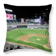 Night Baseball In Minneapolis Throw Pillow