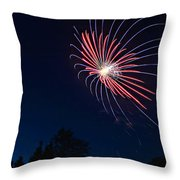 Night Bloom Throw Pillow