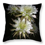 Night Bloomers 4.21 Throw Pillow