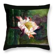 Night Blooming Cereus Throw Pillow