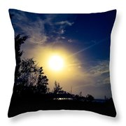 Night Blue Sky Delight.. Throw Pillow