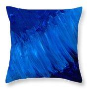 Night Blues Throw Pillow
