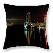 Night Boat Throw Pillow