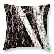 Night Branches Throw Pillow