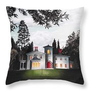 Italian House Country House Detail From Night Bridge  Throw Pillow