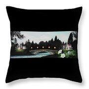 Night Bridge Throw Pillow