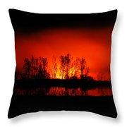 Night Burn Throw Pillow