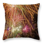 Night Burst Throw Pillow by Tyson Kinnison