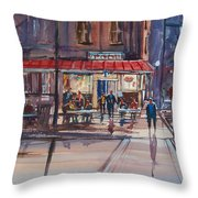 Night Cafe Throw Pillow