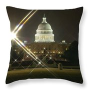 Night Capitol Throw Pillow