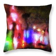 Night City Lights Throw Pillow