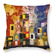 Night City Throw Pillow by Michelle Calkins