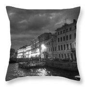Night City Peterburg Throw Pillow